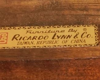 vintage Ricardo Lynn & Co.  TEAK furniture collection purchased overseas in the 1970s