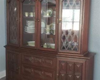 Ricardo Lynn & Co. Teak 2 piece china cabinet/hutch/buffet