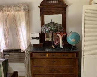 Matching marble top dresser to be sold as a complete bedroom set