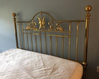 King Size Brass Bed.