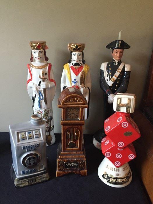 Vintage decanters.