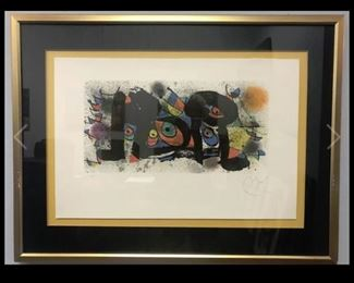 3 Hand Signed Joan Miro Lithographs