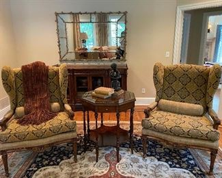 Harden Custom Covered Wing Chairs