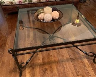 Glass Top Square Coffee Table