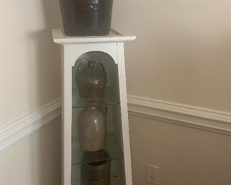 PAIR OF POTTERY DISPLAY STANDS
