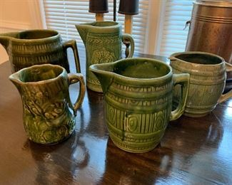 LARGE COLLECTION GREEN WARE POTTERY