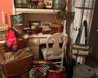 VINTAGE FISHING AND CABIN ITEMS