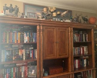 BEAUTIFUL CARVED BOOKCASES