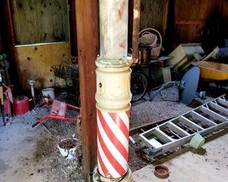 Vintage barber shop pole