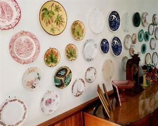 Majolica, decorator plates