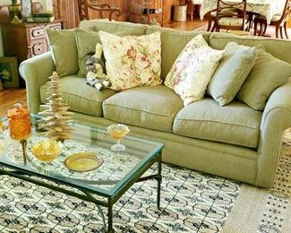 Excellent condition,  Crate & Barrel  sofa, matching set.