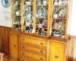 R way, China cabinet, matching dining room table, matching buffet