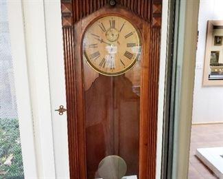 Clock,  wall clock. Gilbert Clock Co.