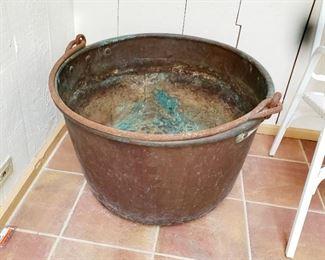 Copper pot, very  large pot