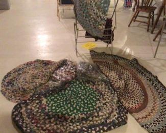 Handmade Rag Rugs.  100 years old