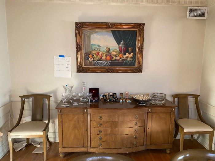 Johnson Handley Johnson Furniture, Buffet, Sideboard, Crystal, Painting, Serveware, Household