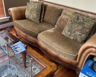 Leather Tuscan Down filled Loveseat