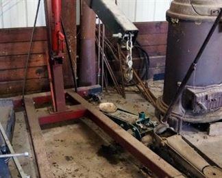 3 Ton Engine Hoist With Hydraulic Long Ram Jack, Model LRJ3B