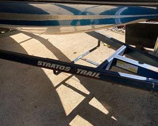 Stratos bass boat w/trailer & Johnson outboard motor