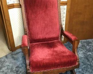 F002 Unusual Vintage Rocking Chair