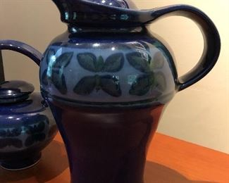 """Purchased at the Kennedy Gallery in Durham, both pieces are signed """"Cg"""" on the bottom Asking $40 for tea pot and $30 for water jug."""