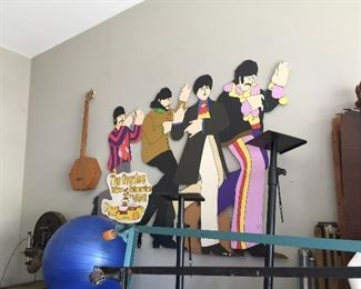 The Beatles Yellow Submarine stand up cardboard advertisement