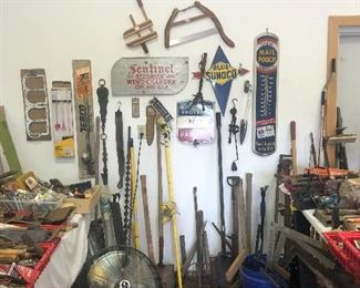 Great vintage items including several metal signs
