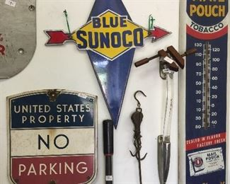 Check out these great vintage metal signs