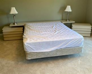 Queen contemporary bedroom furniture. Located on the 2nd floor.
