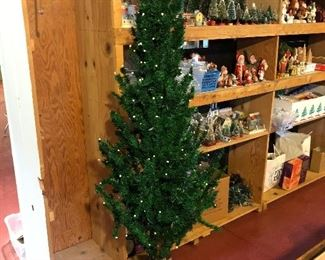 Antique 5 foot German Christmas feather tree