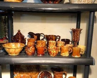 More Bennington Rockingham pottery