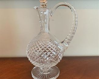 """#14Waterford Crystal decanter with stopper. 12""""H $200.00"""