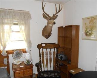 Mule deer mount & rocker