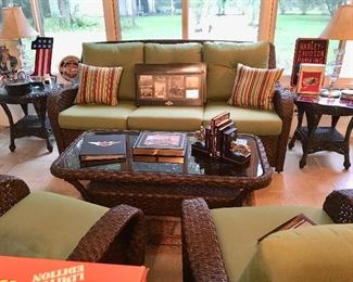 Patio Set  by Palm Furniture, Sofa, Swivel Chairs, 2 End Tables - Harley Davidson Books and more...