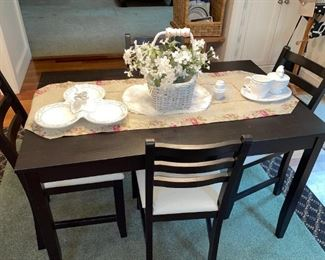 Ikea Lerhamm Black Table & Chairs, The Mane Lion Italy Ceramics !