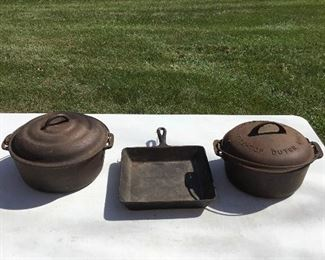 B008 Griswold Dutch Oven And Other Cast Iron
