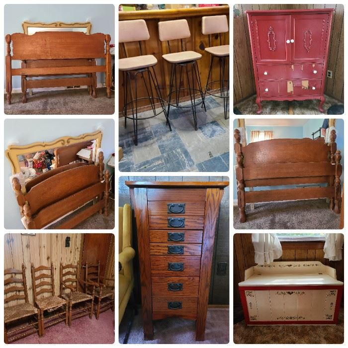 Photos are a sampling of furniture for sale. There are too many items to photograph. List of items is included in the sale description.