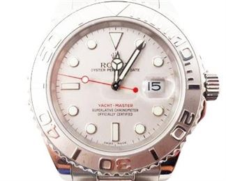 ROLEX Yachtmaster Platinum & Stainless 35mm Recently Serviced