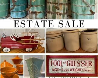 Cooper Estate Sale: Friday, 10/1/2021   8am-4pm and Saturday, 10/2/2021   8am-2pm