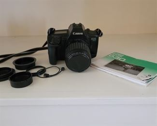 Canon EOS 630 35mm Camera with Accessories