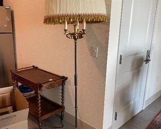 Standing French Lamp - Tea cart - Barley Twist