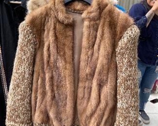 Vintage sweater vest fur