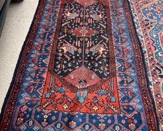 "90"" X 3'10"" Blue Runner Antique Persian Rug -"
