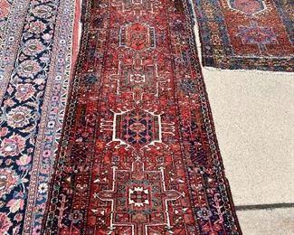 "10'6"" x 31.5"" 7 medallion Runner Antique Persian Rug"