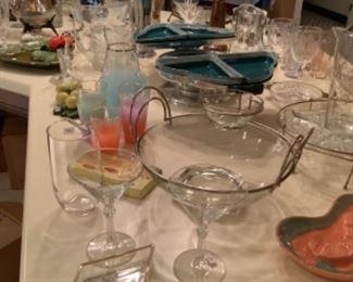 Mid century glasswares
