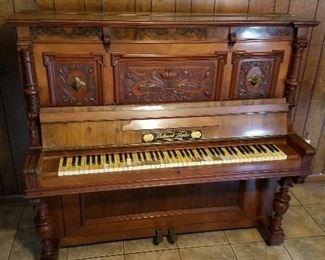 Hand Carved German Piano