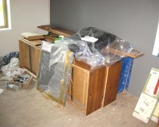 Brand New Water Bed w/Storage Cabinets