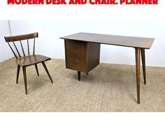Lot 1 2pc PAUL McCOBB American modern Desk and Chair. Planner