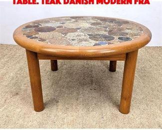 Lot 2 HASLEV Handmade Tile Top Table. Teak Danish Modern Fra