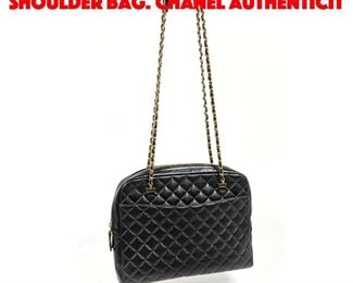 Lot 7 CHANEL Quilted Leather Shoulder Bag. Chanel Authenticit